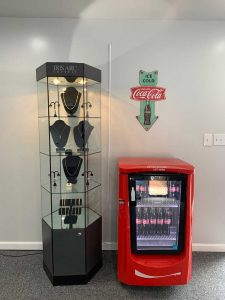 Coke Machine Jewelry Display